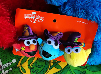 Universal Studios Sesame Street ELMO Halloween Hair Band Rope Girl Hair Acc 3pcs