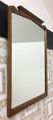 Arts and Crafts Carved Oak Wall Mirror