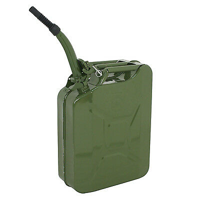 5 Gallon 20L Jerry Can Gasoline Fuel Can Steel Tank Emergency Backup Green