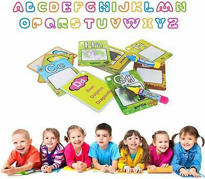 Kids Magic Water Drawing Flash Card Kids Early Education Learning Cards