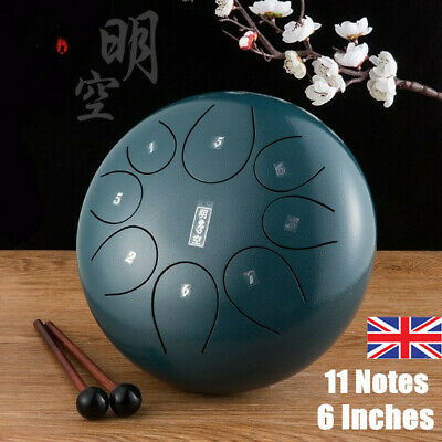 Alloy Steel Tongue Drum 6 inch 8 tone key lotus empty drum Help you Relax~