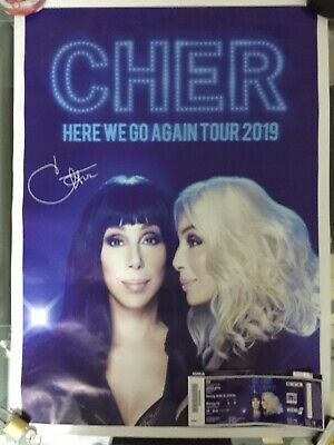 Cher Here We Go Again Poster And Ticket Cologne Used