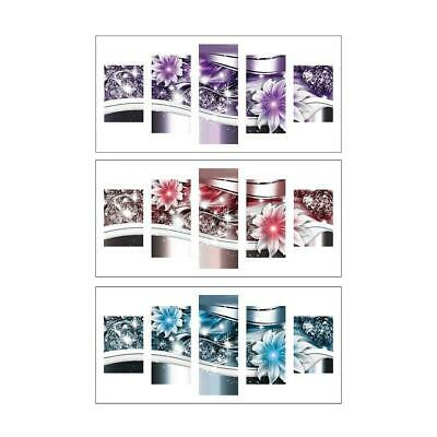Flower 5D DIY Full Drill Diamond Painting 5-pictures Combination Craft Kits tt