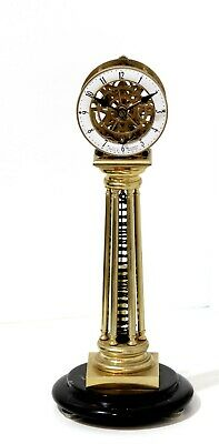 Wm Smith Musselburgh, Maker & Inventor, reproduction of fusee skeleton clock