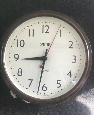 "13"" Smiths Sectric  Vintage Bakelite  Electric Wall Clock 13"""