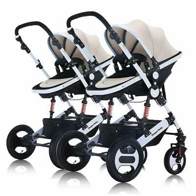 Twin Baby Stroller Shock Portable High View Detachable Infant Fold Travel System