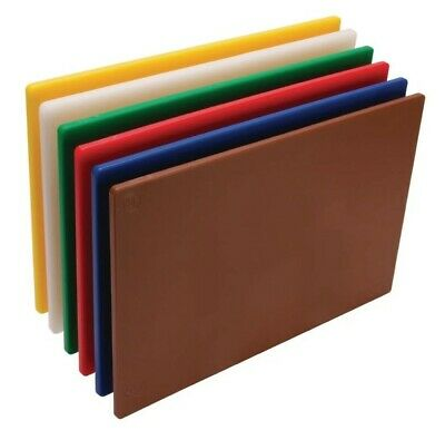 6 X Chopping Boards Full Set Of Six Colours Red Blue Yellow White Brown Green