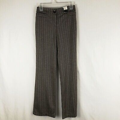 Nwt New York & Company Women's Dress Pants Sz XS Brown City Knit Whitney Trouser
