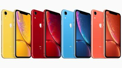 Apple iPhone XR 64GB 128GB 256GB - Black White Yellow Coral Blue AT&T Sprint