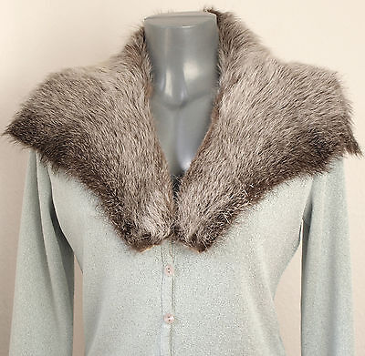 Collar Nutria fur Men's Vintage fur Collar Raccoon Sew Handcrafts Grey Braun