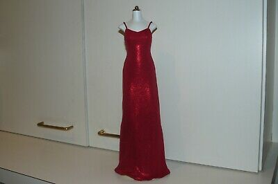 Franklin Mint Princess Diana Red Lame Gown For A Princess Diana Vinyl Doll