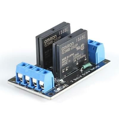 2 Way Solid State Relay Module Board High Level Trigger 5V Output with Fuse R1BO