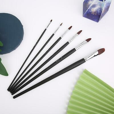 Artist Watercolour Acrylic Paint Brushes Set Face Painting Craft Oil 6 Pcs/Kit