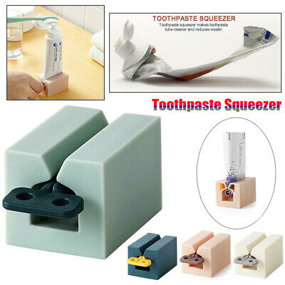 Plastic Toothpaste Tube Squeezer Easy Dispenser Rolling Holder Home Supplies Kit