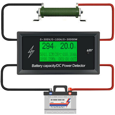 100A 300V DC Energy Meter Energy Monitoring 8 in 1 Measurement Voltage +