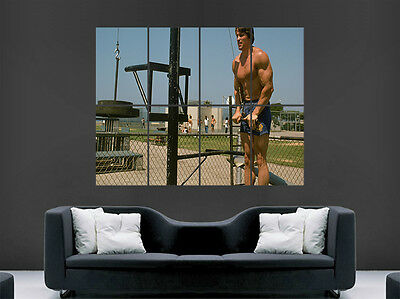 Arnold Schwarzenegger  Poster Gym Fitness Movie Film Weightlifting Art Picture