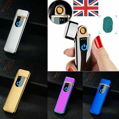 1 Smart Touch Sensor USB Rechargeable Double Flameless Electric Lighter Gift Box