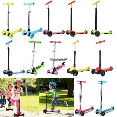 Folding Kick Scooter 3-Wheel Outdoor Kid Ride Sport Exercise Foot Scooter