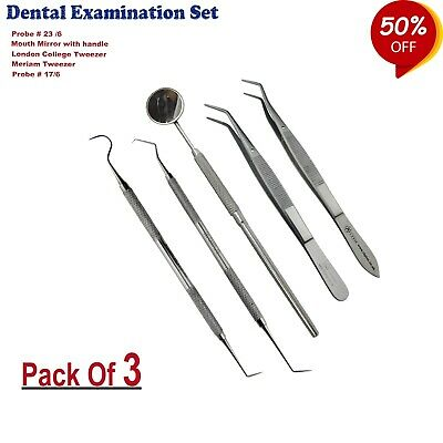 Dental Hygiene Cleaning Scaler Kit Tooth Scraper Oral Care Dentist Tools