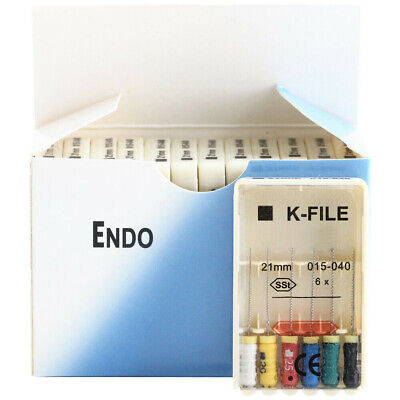 10 Packs Dental Endo K-FILE 21mm 015-040 Endodontic Root Canal Hand Use files