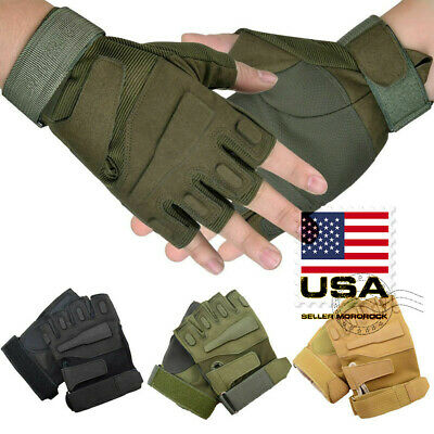 US Men Army Military Tactical Shooting Motorcycle Hunt Half & Full Finger Gloves