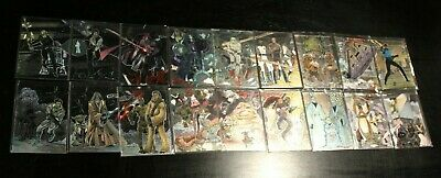 Complete Sets Star Wars Galaxy Chase Foil 1 2 3 18 cards 1993 1994 Etched NM HTF