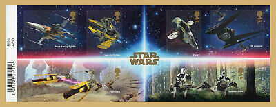 2019 STAR WARS Stamp Mini Sheet Mint - WITH BARCODE MARGIN