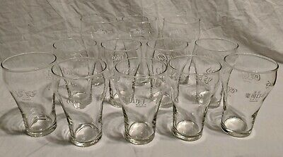 Lot Of 12 Various Clear Glass Coca Cola Glasses 5- International 8oz Bell