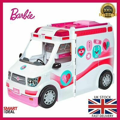 Barbie Careers Care Clinic Ambulance Toy Play Role Model Lights Sounds X-Ray New