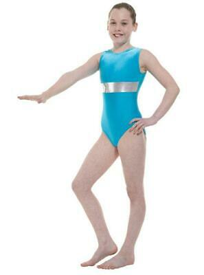 SALE!! Girl's Gymnastic Leotard Gym 6 Kingfisher/Silver Tappers & Pointers Gym6