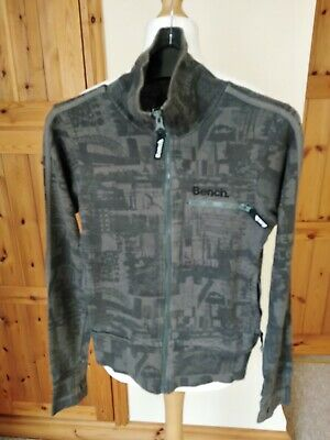 Men's Boys Bench Extra Small Size Grey Zip Up Jumper Cardigan 100% Cotton Used