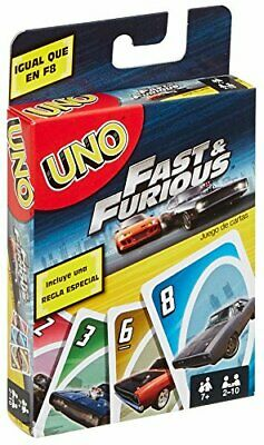 Mattel Uno Almost & Furious Card Game Card Game Car Special Edition Cars