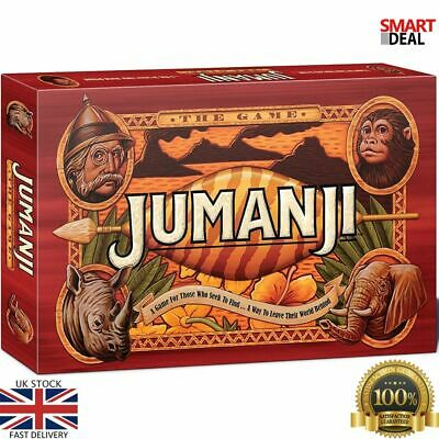 Jumanji Board Game Great Gift For Family Fun Exciting Play For Ages 7+ New