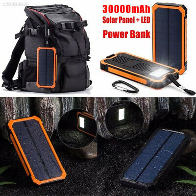 4A6A with Lanyard Solar Battery Charger Power Bank Outdoor LED Light External