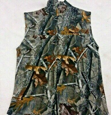 Winchester Mens Size Large Hunting camouflage Outdoor pattern Fleece Vest EUC