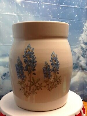 Shakers & Thangs Butter Churn with lid Pottery Marshall Texas Bluebonnets
