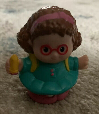 Fisher Price Little People MAGGIE w// PENCIL /& BACKPACK ready for SCHOOL BUS