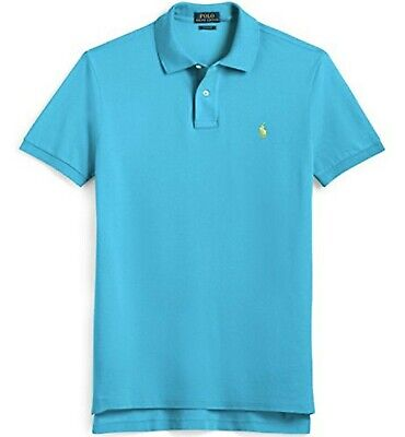 RALPH LAUREN BOYS POLO SHIRT TOP TURQUOISE BLUE COTTON SIZE 6 Age 6yrs NEW