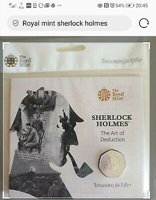 2019 Royal Mint Sherlock Holmes BU 50p Fifty Pence Coin Pack Sealed Uncirculated
