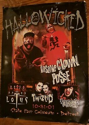 Insane Clown Posse - Hallowicked 2001 Poster twiztid dark lotus rare icp blaze