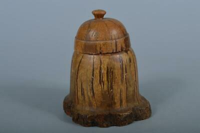 K3524: Japanese Wooden Shapely TEA CADDY Chaire Container Tea Ceremony