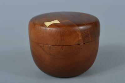 K4913: Japanese Wooden Mulberry tree Shapely TEA CADDY Natsume Chaire