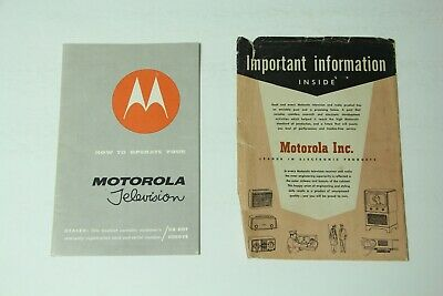 Vintage MCM Manual How To Operate Your Motorola Television 1956 with Envelope