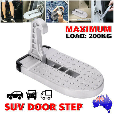 Portable Car Door Step Hook Truck Folding Foot Pedal Latch Jeep SUV for Ladder