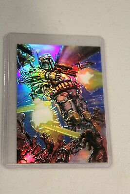 Boba Fett 34 Star Wars Finest 1996 Topps Doré Refractor Poursuite Insertion NM #