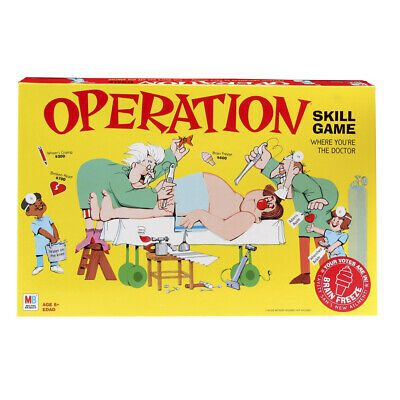 Operation Electronic Board Game With Cards Kids Skill Ages 6 and Up...
