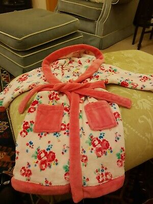Girls Age 2-3 fleecy Dressing Gown. Floral. Mini Club. Pink