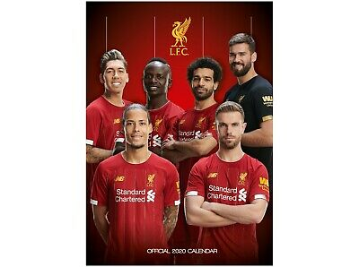 Liverpool FC 2020 Calendar - Official A3 Month to View Wall Calendar NEW