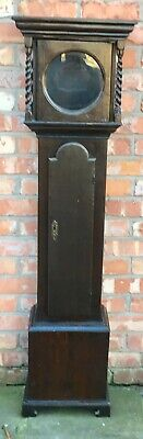 Good Antique Small miniature Grandfather Long case Clock Case Grandmother