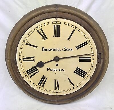 Rare Antique Fusee Clock Dial & Movement BRAMWELL & SONS PRESTON for Restoration